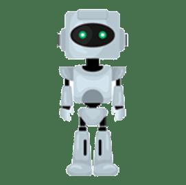 アールピーエーを説明しているロボットの画像